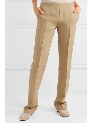 The Row ladan wool and silk-blend straight-leg pants