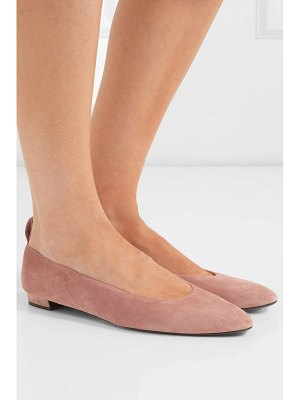 The Row lady di suede ballet flats