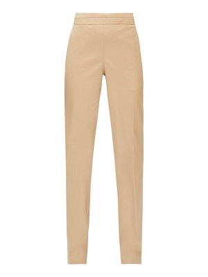 The Row larry pleated-waist cotton-twill trousers