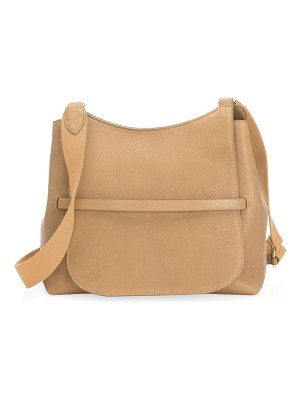 The Row sideby grained leather messenger bag