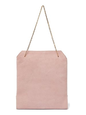The Row lunch bag suede clutch