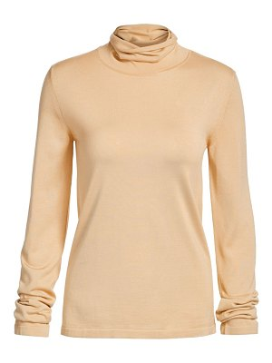 The Row margita silk knit turtleneck sweater