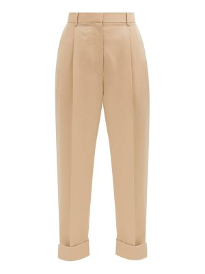The Row marta high-rise wool-twill trousers