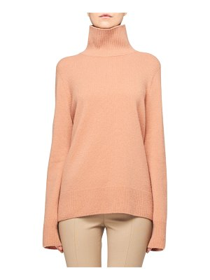 The Row Milina Oversized Wool-Cashmere Turtleneck Sweater
