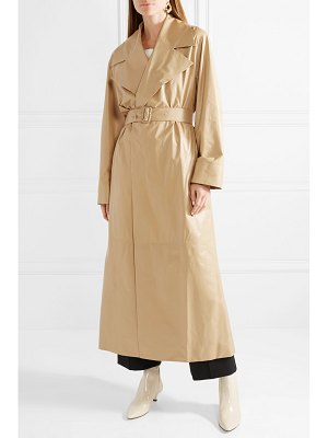 The Row moora leather trench coat
