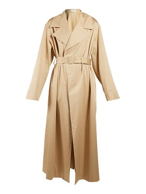 The Row Moora notch-lapel trench coat