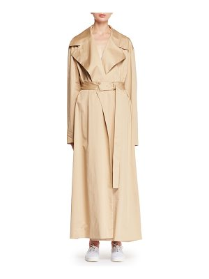 THE ROW Moora Notched-Collar Belted Stretch-Poplin Trench Coat