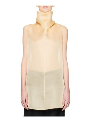 The Row Mora Organza Turtleneck Top