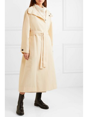 The Row panae silk and cotton-blend trench coat