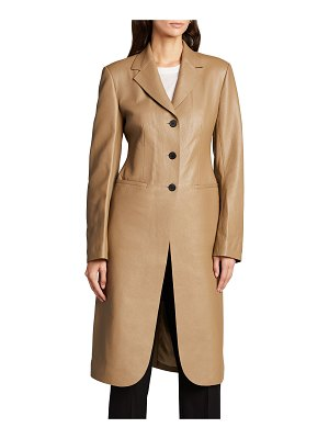 The Row Panois Deerskin Leather Long Coat