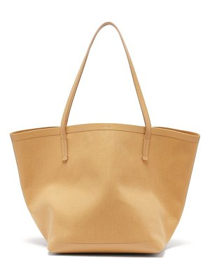 The Row park canvas and leather tote bag