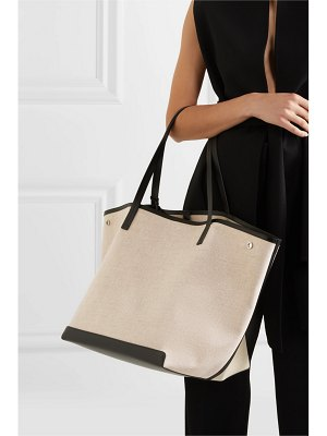 The Row park xl leather-trimmed canvas tote