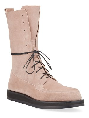 The Row Patty Suede Lace-Up Combat Boots