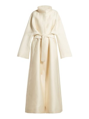 The Row sarlie high neck silk coat