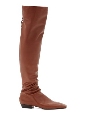 The Row slouch over-the-knee leather boots