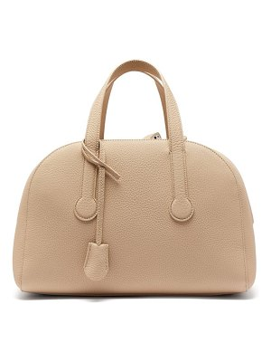 The Row sporty bowler 12 grained-leather bag