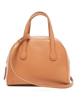 The Row sporty leather bowling bag