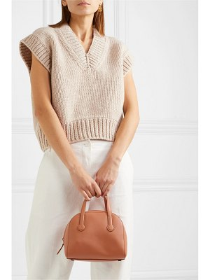 The Row sporty bowler small leather tote