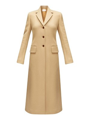 The Row sua single-breasted wool-blend coat