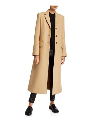 The Row Sua Wool-Blend Button-Front Coat