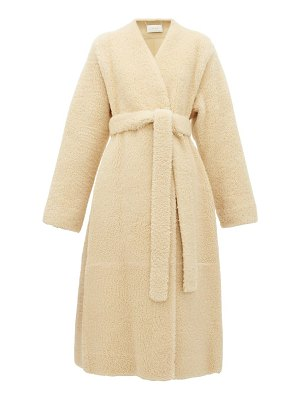 The Row tanilo merinillo shearling wrap coat