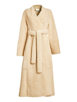 The Row tanilo shearling wrap coat