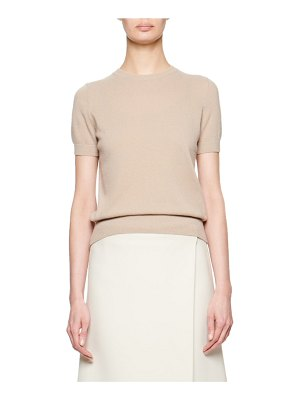 The Row Tati Cashmere/Silk Short-Sleeve Top