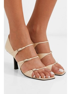 The Row three buckles leather sandals