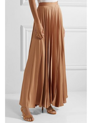 The Row vailen pleated crepe de chine maxi skirt