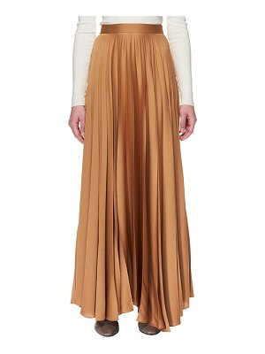 The Row Vailen Pleated Satin Maxi Skirt