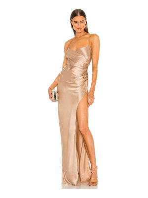 The Sei x revolve strappy gathered gown
