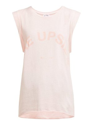 THE UPSIDE issy logo printed cotton jersey tank top