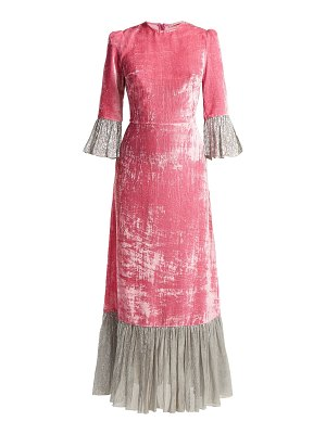 THE VAMPIRE'S WIFE Festival Crushed Velvet Dress
