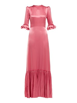 THE VAMPIRE'S WIFE festival ruffled trimmed silk satin maxi dress