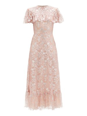 THE VAMPIRE'S WIFE the bombette metallic floral-lace dress