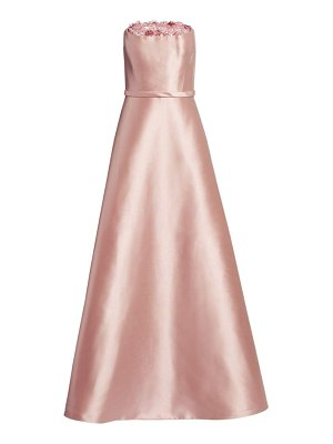 Theia crumb catcher strapless gown