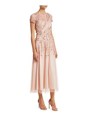 Theia embellished tulle cocktail dress