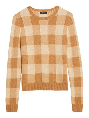 Theory check cashmere sweater