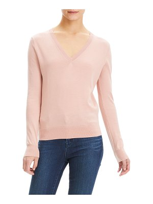 Theory Cotton Fitted & Ribbed Top
