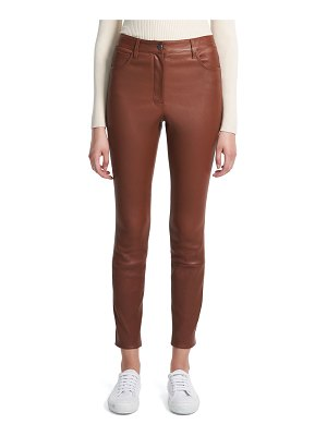 Theory High-Waist Leather Jeans