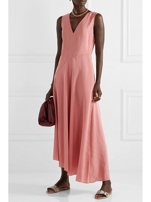 Theory paneled hammered-satin maxi dress