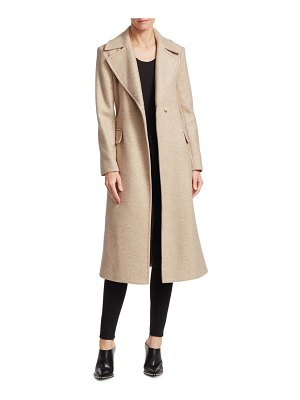 Theory perfect belted wool-blend trench coat