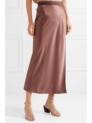 Theory satin maxi skirt