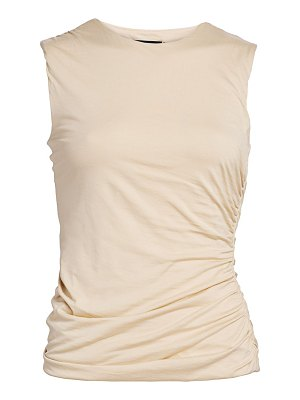 Theory sleeveless pima cotton twist tee