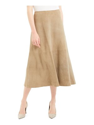Theory Soft Lamb Suede Volume Skirt