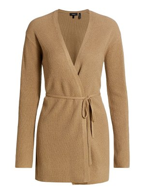Theory tie-front cashmere cardigan