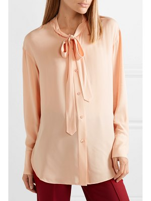 Theory weekender pussy-bow silk-georgette shirt
