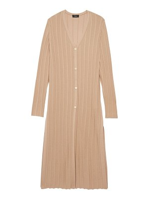 Theory wide ribbed long cardigan