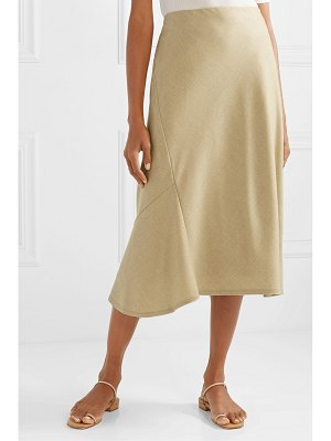 Theory wool midi skirt