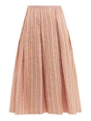 Thierry Colson odette striped midi skirt
